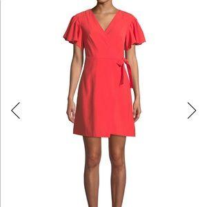 Club Monaco wrap dress w/flutter sleeve. Size 2